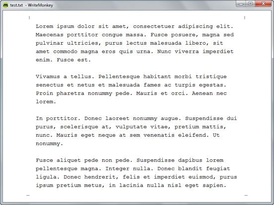 Область редактирования текста