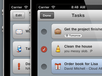 Приложение для управления задачами на iPhone