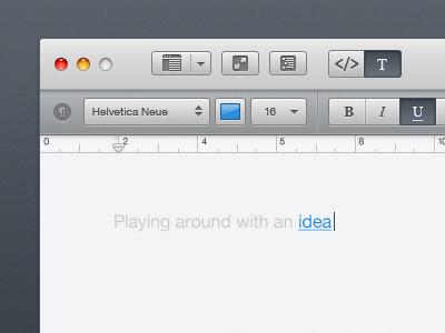 Интерфейс редактора для Mac