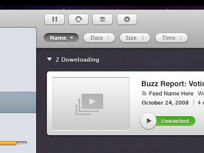 Элементы интерфейса в программе для Mac