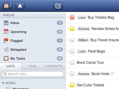 Управление задачами на iPad