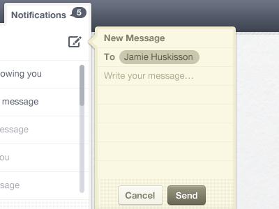 Создание нового сообщения