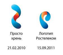 Логотип Ростелекома и векторный элемент